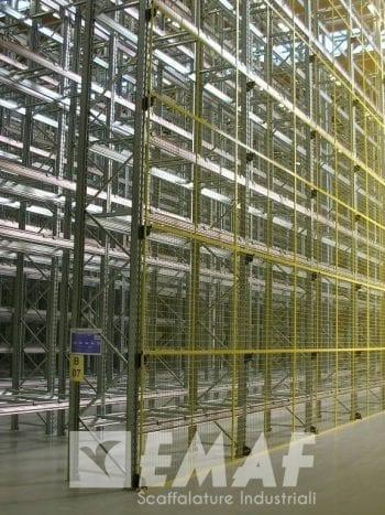 Scaffalature Metalliche Industriali Prezzi.Barriere E Protezioni Per Scaffalature Scaffalature Metalliche